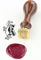 K - Illuminated Font J Herbin Brass Letter Seal Sealing Wax