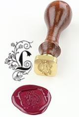 L - Illuminated Font J Herbin Brass Letter Seal Sealing Wax