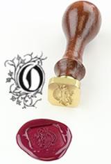 O - Illuminated Font J Herbin Brass Letter Seal Sealing Wax