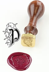 J Herbin Brass Letter Seal Sealing Wax in P - Illuminated Font