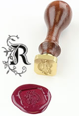 R - Illuminated Font J Herbin Brass Letter Seal Sealing Wax
