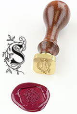 J Herbin Brass Letter Seal Sealing Wax in S - Illuminated Font