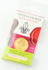 Fl De Lys J Herbin Brass Seal Sealing Wax