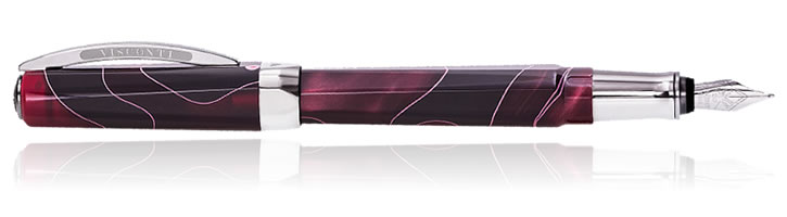 Visconti Vertigo Fountain Pens in Red