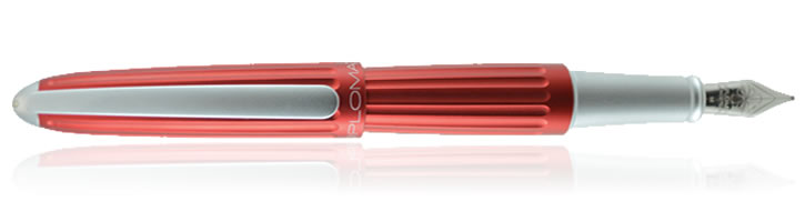 Diplomat Aero Fountain Pens in Red