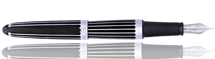 Stripes Black Diplomat Aero Fountain Pens