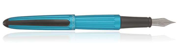 Diplomat Aero Fountain Pens in Turquoise