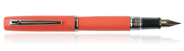 Platinum Procyon Fountain Pens in Persimmon Orange