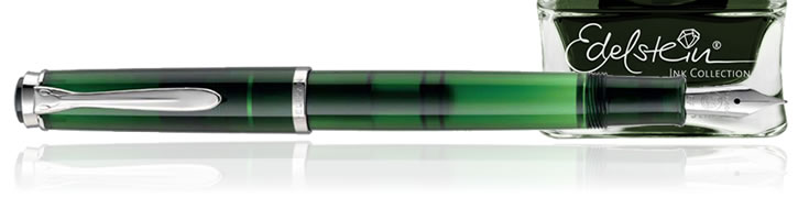 Pelikan Special Edition M205 Fountain Pens in Pen and Olivine Ink