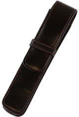 Girologio Single Top Flap Pen Carrying Cases in Oxblood