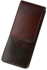 Girologio Triple Magnetic Closure Pen Carrying Cases in Oxblood