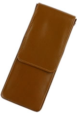 Girologio Triple Magnetic Closure Pen Carrying Cases in Tan