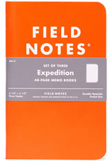 Field Notes Expedition Memo & Notebooks