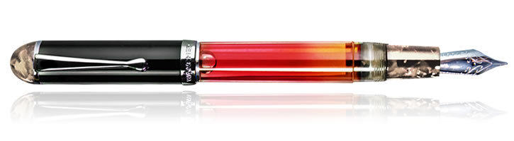 Wancher Crystal Fountain Pens in Light Smoke Topaz