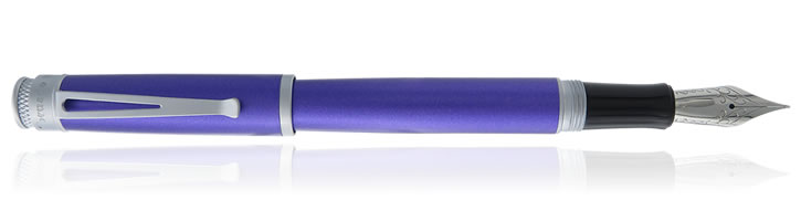 Retro 51 Frosted Metallic Fountain Pens in Ultraviolet