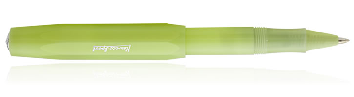 Kaweco Frosted Sport Rollerball Pens in Fine Lime