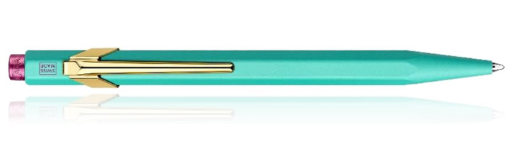 Caran d'Ache 849 Claim Your Style Ballpoint Pens in Turquoise