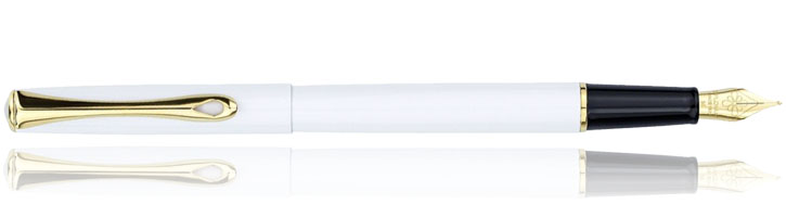 Snow White / Gold Diplomat Traveller  Fountain Pens