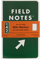 Field Notes Mile Marker Memo & Notebooks
