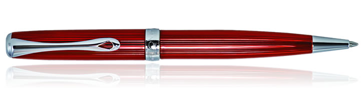 Diplomat Excellence A2 Ballpoint Pens in Skyline Red
