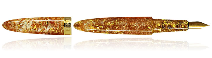 Benu Minima Fountain Pens in Blazing Gold