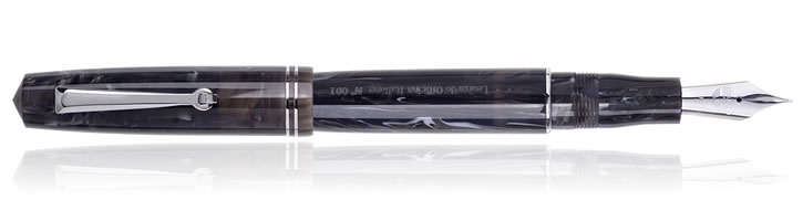 Leonardo Officina Italiana Momento Zero Fountain Pens in Dark Horn