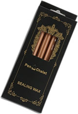 Pen Chalet Glue Gun Sealing Wax in Rose Copper