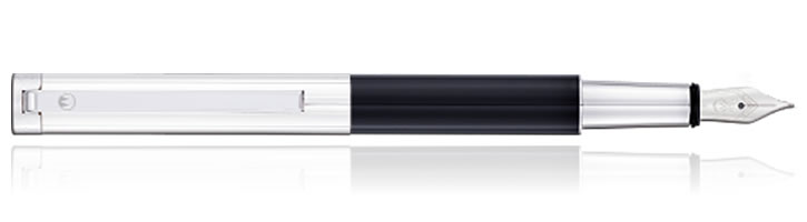 Black Lacquer Waldmann Cosmo Fountain Pens