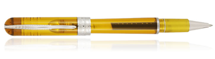 Pineider Avatar UR Demonstrator Rollerball Pens in Amber