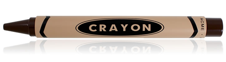 ACME Studios Crayon Rollerball Pens in Chocolate Brown
