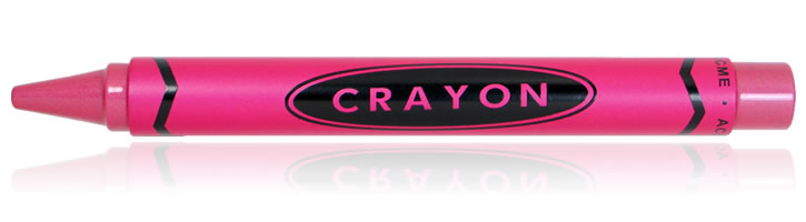 ACME Studios Crayon Rollerball Pens in Pink