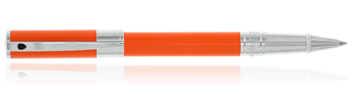 S.T. Dupont D-Initial Rollerball Pens in Orange Chrome