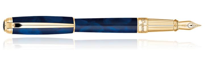 Atelier Blue Laquer S.T. Dupont Line D Large Fountain Pens