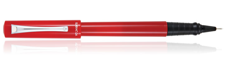 Yookers Yooth Fiber Pen Rollerball Pens in Red 0.8