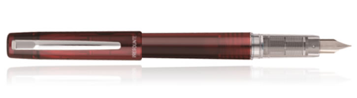 Crimson Red Platinum Prefounte Fountain Pens