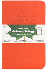 Field Notes Autumn Trilogy Memo & Notebooks