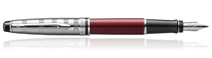 Waterman Expert Fountain Pens in Red Deluxe