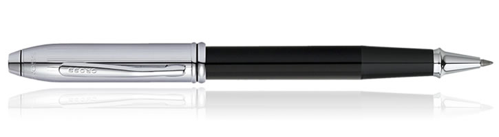 Cross Townsend Rollerball Pens in Black Chrome