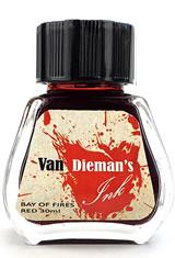 Bay of Fires Red Van Dieman's Ink Original Fourteen Colours of Tasmania(30ml) Fountain Pen Ink