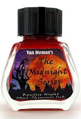 Bonfire Night - Shimming Ink Van Dieman's Ink Midnight(30ml) Fountain Pen Ink