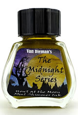 Howl at the Moon - Shimming Ink Van Dieman's Ink Midnight(30ml) Fountain Pen Ink