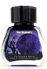 Twilight Mist - Shimming Ink Van Dieman's Ink Midnight(30ml) Fountain Pen Ink