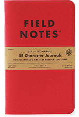 Fantasy Field Notes 5E Character Memo & Notebooks