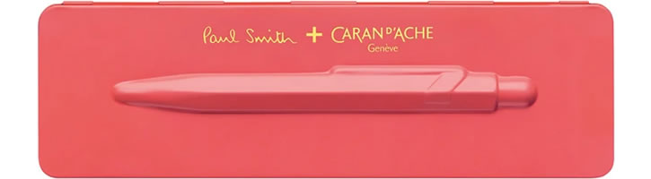 Caran d'Ache 849 Paul Smith Edition 3 Ballpoint Pens in Coral Pink