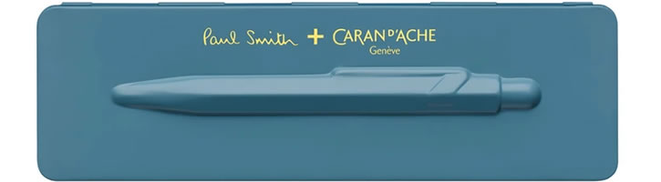 Caran d'Ache 849 Paul Smith Edition 3 Ballpoint Pens in Petrol Blue