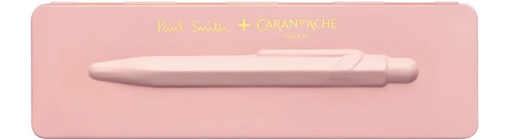 Caran d'Ache 849 Paul Smith Edition 3 Ballpoint Pens in Rose Pink