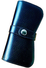 Montegrappa Double Pen Carrying Cases in Black