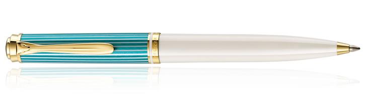 Pelikan K600 Turquoise White Ballpoint Pens