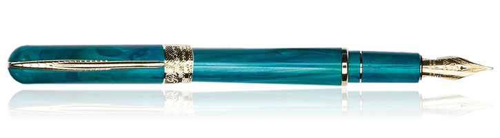 Pineider Avatar UR Deluxe Fountain Pens in Abalone Green