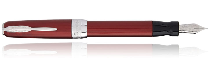Pineider Full Metal Jacket Fountain Pens in Army Red